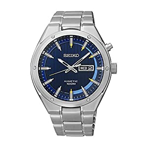 Seiko Men's SMY155 Analog Display Japanese Quartz Silver Watch