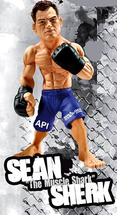 "Round 5 World of MMA Champions UFC Series 2 Action Figure Sean ""Muscle Shark"" Sherk - 1"