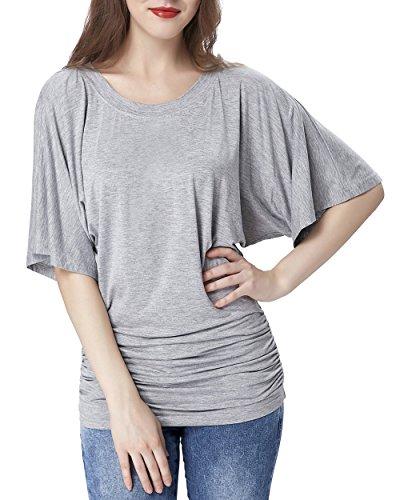 Kimono Sleeve Dolman Top Summer Shirts for Women KK239-1_M (Big Sleeve Shirts For Women compare prices)