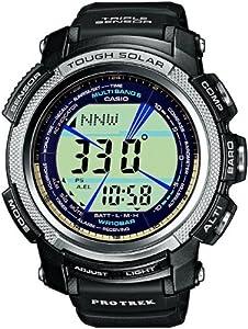 CASIO PRO TREK PRW-2000-1ER - Reloj unisex de cuarzo, correa de resina color negro (con radio, multifunción, altímetro, cronómetro) marca Casio