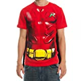 Batman Robin Mens Red Cape Tee (X-Large)