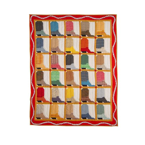 Patch Magic 50-Inch By 60-Inch Boots Throw