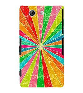 GEOMETRICAL TRICOLOURED PATTERN 3D Hard Polycarbonate Designer Back Case Cover for Sony Xperia Z4 Mini :: Sony Xperia Z4 Compact