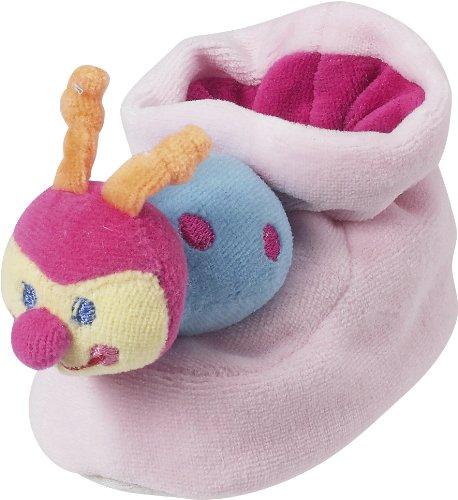 Playshoes Weiche Rasselschuh Käfer mit Noppensohle, Baby Mädchen Krabbelschuhe, Pink (900 original), 6-12 months EU