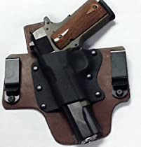 Kahr PM9 With Crimson Trace Laserguard Left Hand Pro Carry Hybrid Tuckable Gun Holster BROWN