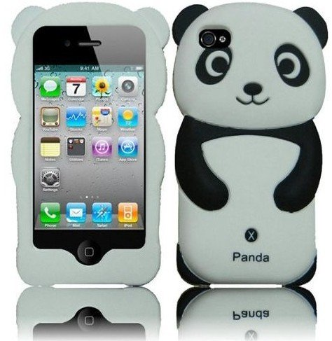 Black Panda Silicone Jelly Skin Case Cover for
