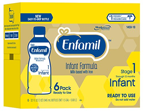Enfamil Infant Ready To Use Bottle, 32 Ounce Bottle, 6 Count