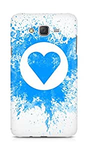 Amez designer printed 3d premium high quality back case cover for Samsung Galaxy J7 (Drawing on wall chalk blue white heart love feelings)