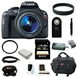 Canon EOS Rebel SL1 18MP Digital SLR with 18-55mm EF-S IS STM Lens and 3-inch Touch Screen plus 32GB Deluxe Accessory Bundle