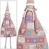 Wunderschöner großer Adventskalender Mädchen Puppe zum Selbstbefüllen 140 cm zum Aufhängen aus Textil / Stoff