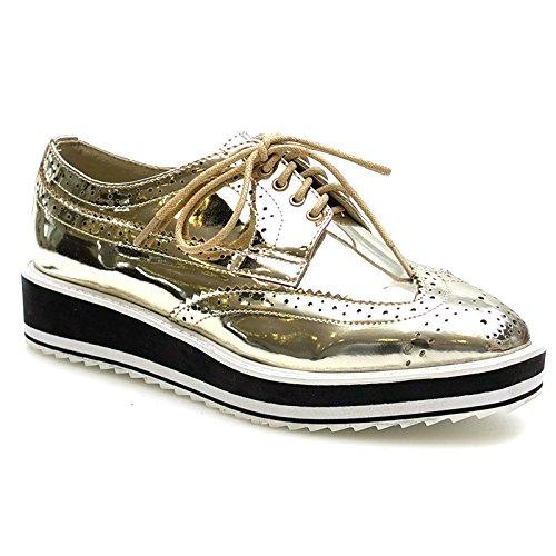 Kayla Shoes, Mocassini donna, Giallo (oro), 40 EU