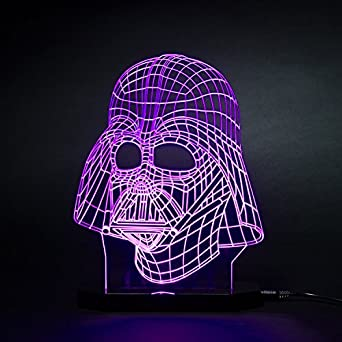 3d Star Wars Darth Vader LED Light Table Lamp Night