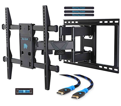 Mounting Dream MD2298 Premium TV Wall Mount Bracket with Full Motion Articulating Arm for most 42-70 Inch LED, LCD and Plasma TV up to VESA 600x400mm and 132 lbs Fits Wood Stud Spacing up to 24 inches (Vesa Mounting Bracket compare prices)