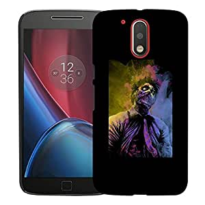 Snoogg Zombiee Designer Protective Back Case Cover For MOTO G4 PLUS