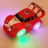 HuaYang Cool Electric Toy Car Automatic Steering Flashing Music Racing Car(Random Color)