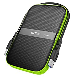 Silicon Power 1TB Rugged Armor A60 Shockproof Water-Resistant 2.5-Inch USB 3.0 Portable External Hard Drive, Black (SP010TBPHDA60S3K)