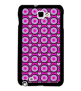 Vizagbeats Heart And Circle Back Case Cover For Samsung Galaxy Note2