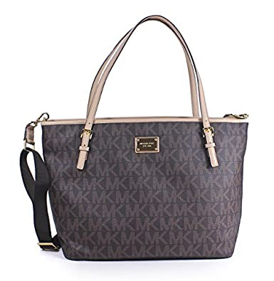 michael kors jet set brown diaper bag signature shoes. Black Bedroom Furniture Sets. Home Design Ideas