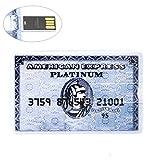 imark 16GB Compact Credit Card Style USB 2.0USB Flash Drive-American Express (Grey)