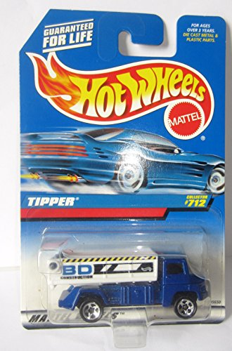 Mattel Hot Wheels 1998 1:64 Scale Blue Tipper Die Cast Truck Collector #712 - 1