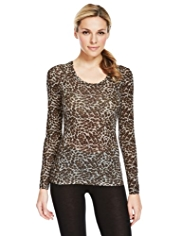 Heatgen™ Animal Print Thermal Top