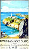 Vintage Poster Shop 1920's LMS Holyhead North Wales Railway Poster A3 Reprint