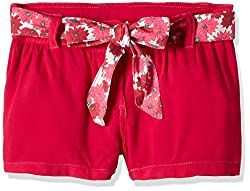 UFO Girls' Shorts (AW16-NDF-GKT-410_Pink_4 - 5 years)