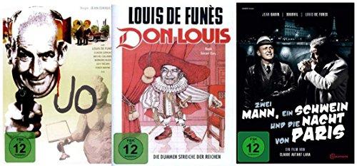 Louis De Funes Fanpaket ( Zwei Mann, ein Schwein und die Nacht von Paris, Don Louis, Jo) (3 Filme auf 3 DVDs)