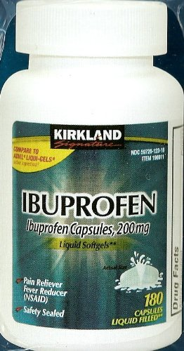 Kirkland Signature Ibuprofen Liquid Softgels 200 mg, 180 Capsules