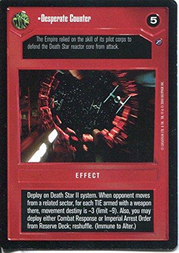 Star Wars Death Star II CCG verzweifelten Counter