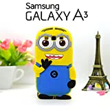 Angelina(TM) Cute Popular Minions Despicable Me 2 Rubber Soft Silicone Phone Case Cover for iPhone 4 4S Blue Color Two Eyes