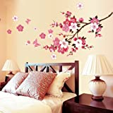 VivReal® Flower Blossom Pattern Removable Wall Sticker Decal Art DIY Home Decor