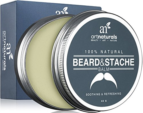 Art-Naturals-Beard-Mustache-Balm-Oil-Wax-Leave-In-Conditioner-20-oz-100-Natural-Conditioning-that-Soothes-Itching-Thickens-Strengthens-Softens-Tames-Styles-Facial-Hair-Growth