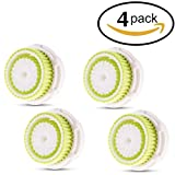 Procizion Compatible Replacement Brush Heads for Acne Prone Skin Works with Mia, Mia 2, Mia 3, Aria, Pro, Smart Profile, PLUS, Smart Profile, Alpha Fit and Radiance Face Cleansing Systems (Four Pack)