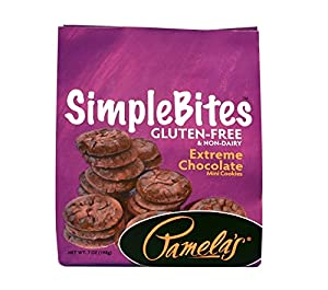 Pamela's Products Gluten Free Simplebites Mini Cookies, Extreme Chocolate, 7-Ounce Pouches (Pack of 6)