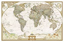 World Executive Wall Map Laminated (World Maps) (National Geographic)