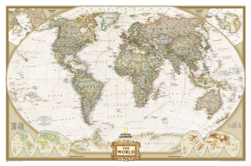 World Executive Wall Map Laminated (World Maps) (Reference - World)