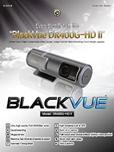 BlackVue DR400G-HD II(Season 2), Car Black Box/Car DVR Recorder, Full HD (1080p@30fps), G Sensor, GPS Tracking, 16GB SD Card Included from Pattasoft