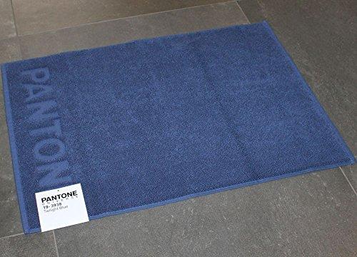 TAPPETO BAGNO PANTONE by BASSETTI 19-3938 TWILIGHT BLUE BLU CM 50 x 70 100% PURO COTONE