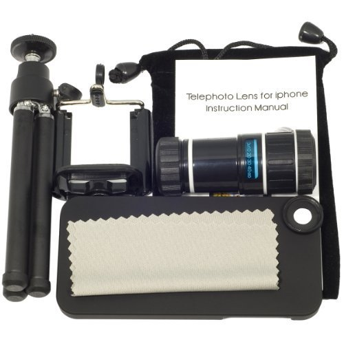 Bw® Funny Camera Lens For Iphone 5 5G 12X Zoom Telescope Lens + Tripod + Case Dc222