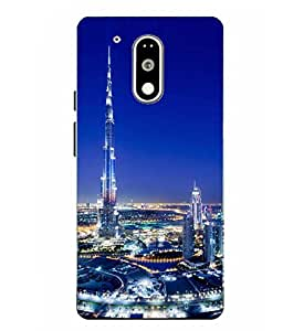 Moto G4 Play Burj khalifa Printed Multicolor Hard Back Cover By Case Cover