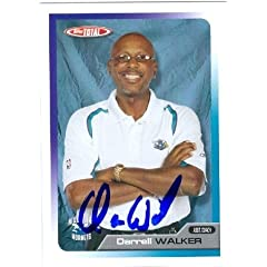 Darrell Walker Autographed Hand Signed Basketball Card (New Orleans Hornets) 2006...