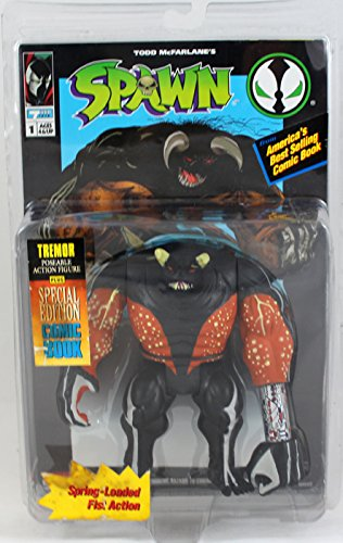 Spawn - 1994 - Tremor Action Figure - Includes Special Edition Comic Book - Spring Loaded Fist Action - Limited Edition - Vintage - Mint - Collectible - 1
