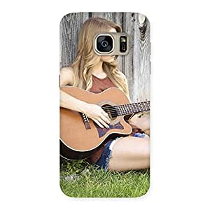 Gorgeous Girl Guitar Back Case Cover for Galaxy S7