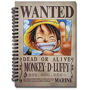 One piece luffy wanted poster notebook toys games - One piece wanted luffy ...