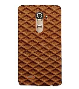 PrintVisa Waffle Pattern 3D Hard Polycarbonate Designer Back Case Cover for LG G4 Mini