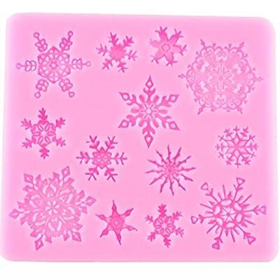 Snowflakes Caek Decorating Supplies Sugarcraft Candy Making Silicone Baking Molds