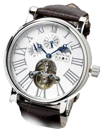 [ゾンネ ハオリ]腕時計 俳優 岩城滉一 限定モデル 機械式腕時計 自動巻き メンズ