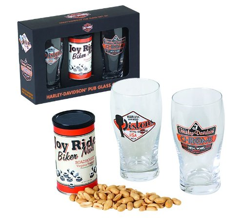 Harley-Davidson® Pub Glass Gift Set. HDL-18801