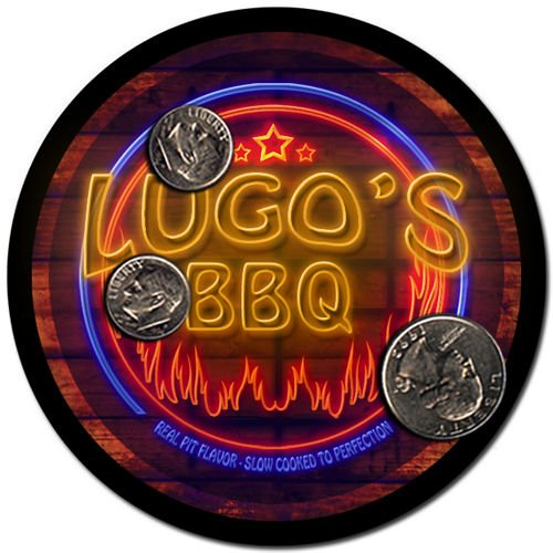 Lugo'S Barbeque Drink Coasters - 4 Pack